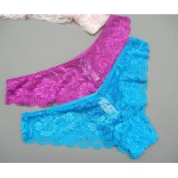 China Women comfortable lace thong wholesale