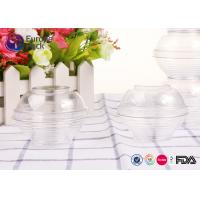 China Disoisable Ps Transparent Plastic Cups With Lids Large Clear Plastic Salad Bowls on sale