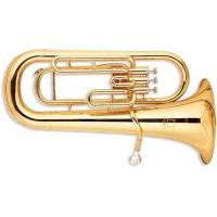 China 3 Valves Brass Musical Instrument , Gold Lacquer Bb Key Euphonium With 13.4mm Bell wholesale