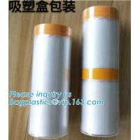 China auto spraying paint single-pack pre-taped masking filmautomotive spray pre-taped masking film with best price, auto pa wholesale