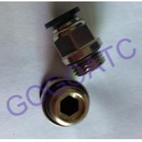 "China Pneumatic 6mm Thread 1/4"" Quick Connect Connector , Air Straight Hose Fitting Quick Connector Coupling wholesale"