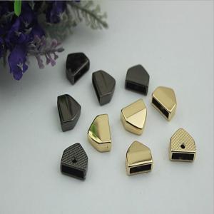 China Wholesale Bulk Price Zinc Alloy Gold Bag End Belt End Metal Clips wholesale