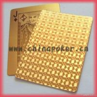 China Gold Plated Playing Cards wholesale
