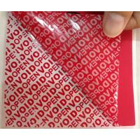 China PET Film Material Self Adhesive Security Labels Red Security Tape wholesale