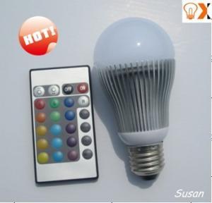 China 3w E27/E26/E14/B22 RGB Remote controlled Color Changing LED lights bulb 120mm×50mm wholesale