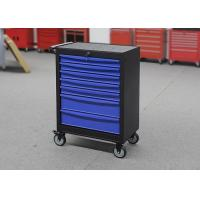 China Blue Metal Professional Movable Steel Rolling Tool Cabinet With Seven Drawers wholesale