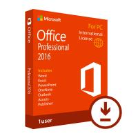 Microsoft Office 2016 Key Code Professional Single - PC Retail Box Easy Using