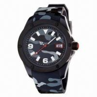 China Army Sports Watch with Camouflage Color Plastic Case and Silicone Strap, New Arrive 2013 wholesale