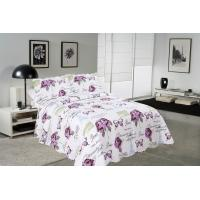 China Rose / Butterfly Cotton House Quilt Covers With Colorful Printed Pattern Styles wholesale