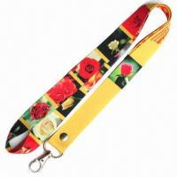 China Sublimation/heat-transfer print lanyard, made of 100% polyester, OEM orders are welcome wholesale
