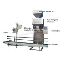 China Fish Feed Packaging Machine Weighing Range5-50kg Bagging Speed4-6bag/min  For large-scale production, it is economical wholesale
