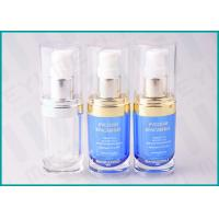 China 20 ML Oval Shape PMMA Acrylic Lotion Pump Bottle For Cosmetic Essence wholesale