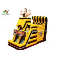 China Yellow / Black Inflatable Combo Sport Playground By PVC Tarpaulin For Kids wholesale