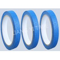 China Blue Heat Resistance Paper Masking Tape For Masking Surface During Painting wholesale