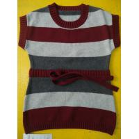 China 100 Cotton Knitted Kids Pullover Sweater , Crew Neck Girls Winter Sweater wholesale