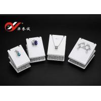 China White Counter Top Display Stands , 4 Pieces Set Acrylic Pendant Display Stand wholesale