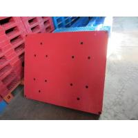 China Chinese hot selling red color double face europe standard plastic pallets wholesale