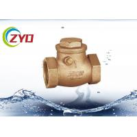 China Sandblasting 1 2 Brass Ball Check Valve , Air Check Valve With Brass Baffle wholesale