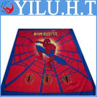 China cartoon spiderman printing polar fleece blanket for baby children wholesale