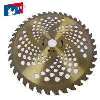 China 255mm TCT Circular Grass Cutter Blade with 40T for Cutting Bush Bamboo Fence wholesale