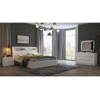 China White High Gloss Bedroom Furniture / King Bed Headborad with Flap Door wholesale