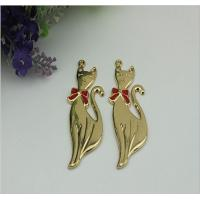 China Fashion ladies shoes accessories zinc alloy gold fox pattern metal lable tag with drip glue wholesale