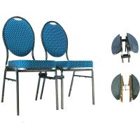 China YLX-6071 Aluminium or Steel Round Back Banquet Dining Chair with Connector wholesale
