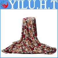 China polyester knitted and printed polyester blankets 100% polyester wholesale