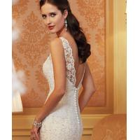China White Sexy Off Sholder Ladies Wedding Dresses , Muslim Wear Long Sleeve Ball Gown wholesale