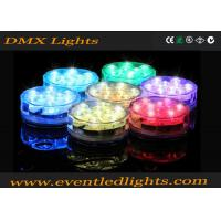 ABS Illuminated Rotating LED Light Base For Wedding Centerpiece , Colors Changing Manufactures