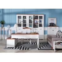 China Veneer Solid Wood Modern Home Office Furniture With Executive Desk / Bookcase wholesale