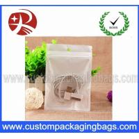 China BOPP Data Cable Plastic Ziplock Bags Pearlized With Euro Slot wholesale