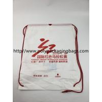 China stomized Plastic Drawstring Backpack, Bag with LOGO wholesale