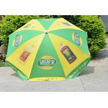 China Road Side Custom Logo Beach Umbrella Parasols , Folding Uv Protection Umbrella wholesale