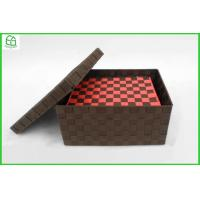 China 100% handwoven S/2 PP/Nylon rectangle home storage basket ,storage box with removable lid wholesale