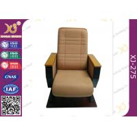 China High Back  Fixed Floor Cinema Theater Chairs With Wooden Pad , Folded Auditorium Conference Hall Chairs wholesale