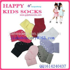 China funny custom cotton kids anti-slip socks wholesale