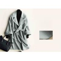 China Soft Warm Handmade Wool Coat , Ladies Tailored Wool Coat Many Colors Available wholesale