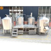 Buy cheap 2000 Liter Beer Brewing System , Stainless Steel Beer Making System PLC Avaiable from wholesalers