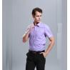 China Men Business Dress Shirts Short Sleeve Stylish Anti - Pilling Turn Down Collar wholesale