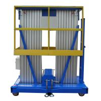 Buy cheap Towing Hydraulic Lift Double Mast Aerial Work Platform 12m And Loading 200Kg from wholesalers