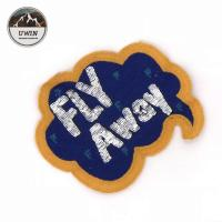 China Fly Away Diy Embroidered Patches Bright Color 19 * 16.5CM Size For Decoration wholesale