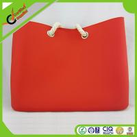 China Sweet Lady Silicone Shopping Bag / Beach Bags With Soft Rope Handle on sale