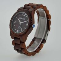 China Eco Friendly Bewell Wooden Wrist Watch Waterproof With Customised Logo wholesale