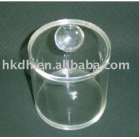 China Acrylic Food Containers Plastic Clear Round Box wholesale