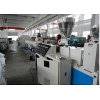 China PVC Twin Screw Pipe Extruder , PVC Pipe Making Machine For Irrigation wholesale