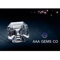 China Forever Brilliant Colorless Asscher Cut Moissanite Eight Arrows Eight Hearts wholesale