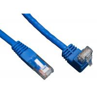 China 90 Degree RJ45 Angled Cat 6 Network Cable ABS Plug Material For Telecom Communication wholesale