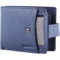 China Portable PU Leather Wallet , seperately credit card holder with metal snap strap for keep safety wholesale