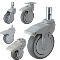 China medical devices caster wheel,hospital bed caster wholesale